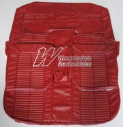 HOLDEN HK KINGSWOOD WAGON MONARO STYLE SEAT COVER SET WITH FRONT BENCH BUCKET SEAT COVERS GOYA RED TRIM CODE 12X