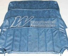 HOLDEN HG KINGSWOOD SEDAN SEAT COVER SET TWILIGHT BLUE TRIM CODE 14E