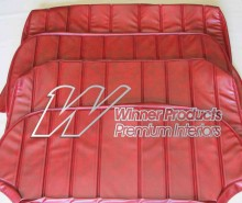 HOLDEN HG KINGSWOOD STATION WAGON SEAT COVER SET BOROQUE RED TRIM CODE 12E