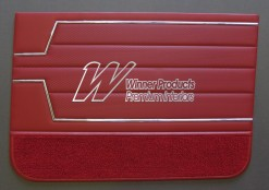 HOLDEN HT KINGSWOOD SEDAN  DOOR TRIM SET TRIM  GOYA RED 12X (HT MONARO)