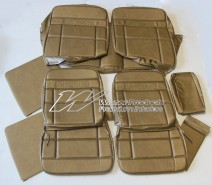 HOLDEN HT PREMIER SEAT COVER SET ANTIQUE GOLD ( TRIM CODE 11E ) (FRONT RECLINING BUCKET SEATS)