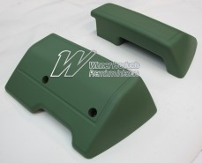 HOLDEN HT HG MONARO SET OF 2 FRONT ARM RESTS ISIS GREEN (TRIM CODE 16R)
