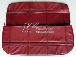 HOLDEN HT KINGSWOOD FRONT SEAT COVER SET MORROCAN RED (TRIM CODE 12E)