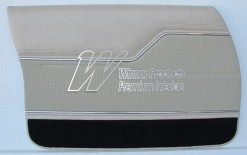HOLDEN HX MONARO GTS SEDAN DOOR TRIM SET CHAMOIS (TRIM CODE 60A) (METAL TOP EXCHANGE)