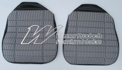 HOLDEN HG GTS MONARO FRONT SEAT COVERS BLACK Black-White Houndstooth Insert TRIM CODE 10Y