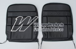 HOLDEN HT PREMIER SEAT COVER SET BLACK ROEBUCK (TRIM CODE 10X) FRONT BUCKETS COVERS ONLY