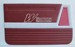 HOLDEN EJ SPECIAL DOOR TRIM SET GARNET & BOLERO RED (TRIM CODE 225 B 10)