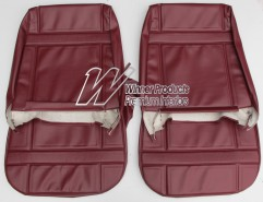 HT KINGSWOOD FRONT SEAT COVER SET MOROCCO RED (TRIM CODE 12E) FIXED FRONT BUCKET SEATS