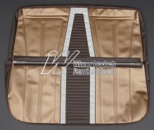 HOLDEN EJ SEDAN BENCH SEAT COVER SET AZTEC GOLD & JAMBOREE BROWN WITH FEATHERTOP GREY (TRIM CODE B16)