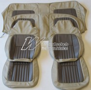 HOLDEN LH SLR 5000 TORANA SEAT COVER SET CHAMOIS/COVERT GOLF BALL INSERT (TRIM CODE 60)