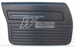 HOLDEN HX SANDMAN FRONT DOOR TRIM SET SLATE 18V (METAL TOP EXCHANGE)