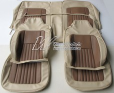 HOLDEN LH SEDAN TORANA SEAT COVER SET DOESKIN CHESTNUT INSERT (TRIM CODE 62V)
