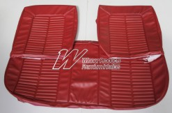 HOLDEN HK GTS KINGSWOOD MONARO STYLE FRONT BENCH BUCKET SEAT COVERS GOYA RED TRIM CODE 12X