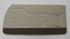 HOLDEN HJ MONARO LS COUPE CHAMOIS DOOR TRIM SET (TRIM CODE 60) METAL TOP EXCHANGE