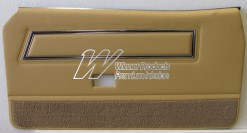 FORD XC FALCON COBRA DOOR TRIM SET COUPE DOESKIN (EXCHANGE METAL TOPS) TRIM CODE D