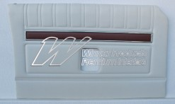 FORD XY GT DOOR TRIMS SET SEDAN WHITE (EXCHANGE METAL TOPS) TRIM CODE W