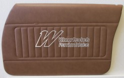HOLDEN HZ SANDMAN FRONT DOOR TRIM SET TAN 67V (METAL TOP EXCHANGE)