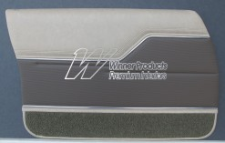 HOLDEN HJ MONARO GTS DOOR TRIM SET CHAMOIS WITH COVERT GOLFBALL (TRIM CODE 60V) METAL TOP EXCHANGE