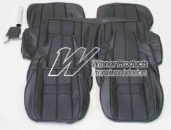 HOLDEN LX 'SS'  HATCHBACK TORANA SEAT COVER SET BLACK LONG GRAIN & BLACK GOLFBALL (CUSTOM)