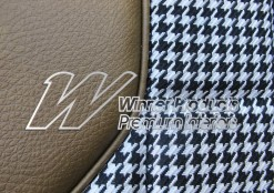 HOLDEN HT GTS MONARO SEAT COVER SET ANTIQUE GOLD HOUNDSTOOTH TRIM CODE 11Y