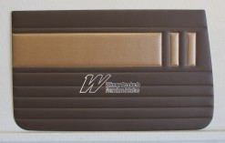 HOLDEN EH SPECIAL DOOR TRIM SET AZTEC GOLD & JAMBOREE BROWN TRIM CODE(C35)