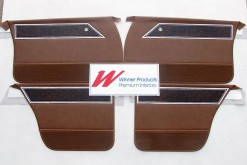 HOLDEN HQ STATESMAN DOOR TRIM SET (NO TOPS) IN BROWN CHEST NUT TRIM CODE 39