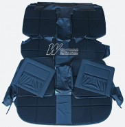 HOLDEN BROUGHAM SEAT COVER SET BLACK (TRIM CODE 10M)