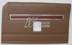 FORD XW GT DOOR TRIMS SET SEDAN SADDLE (EXCHANGE METAL TOPS) TRIM CODE K
