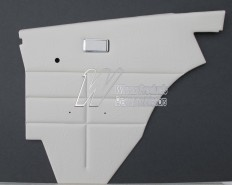 FORD FALCON XB 500 DOOR TRIM SET COUPE WHITE (EXCHANGE METAL TOPS) TRIM CODE W