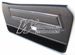 FORD XC COBRA DOOR TRIM SET COUPE BLACK (EXCHANGE METAL TOPS) TRIM CODE B