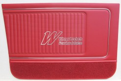 HK KINGSWOOD STATION WAGON MONARO STYLE DOOR TRIMS GOYA RED (TRIM CODE 12X)