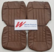 HOLDEN WB KINGSWOOD UTE FRONT SEAT COVER SET SMOOTH TAN TRIM CODE 67C