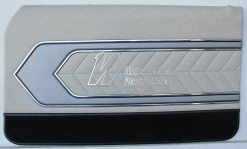 HOLDEN LC TORANA GTR DOOR TRIM SET COUPE SANDALWOOD (METAL TOP EXCHANGE)