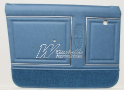 HOLDEN HG PREMIER DOOR TRIM SET TWILIGHT BLUE TRIM CODE 14R (METAL TOP EXCHANGE)