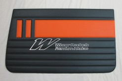 HOLDEN EH SPECIAL DOOR TRIM SET BLACK AND ORANGE CUSTOM TRIM