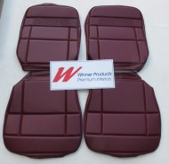 HOLDEN HT PREMIER (FRONT ONLY SEAT COVER SET) (RECLINING BUCKET SEATS) MOROCCAN RED (TRIM CODE 12R)