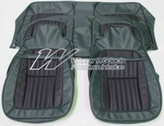 HOLDEN LH SLR SEDAN TORANA SEAT COVER SET JADE/BLACK GOLF BALL INSERT TRIM CODE 45