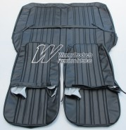 HK KINGSWOOD SEAT COVER SET BLACK FIXED FRONT BUCKET SEATS