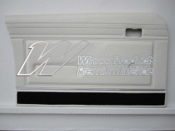 FORD XB GT DOOR TRIMS SET SEDAN WHITE (EXCHANGE METAL TOPS) TRIM CODE W