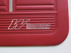 HOLDEN HK KINGSWOOD UTE DOORTRIMS GOYA RED  TRIM CODE 12