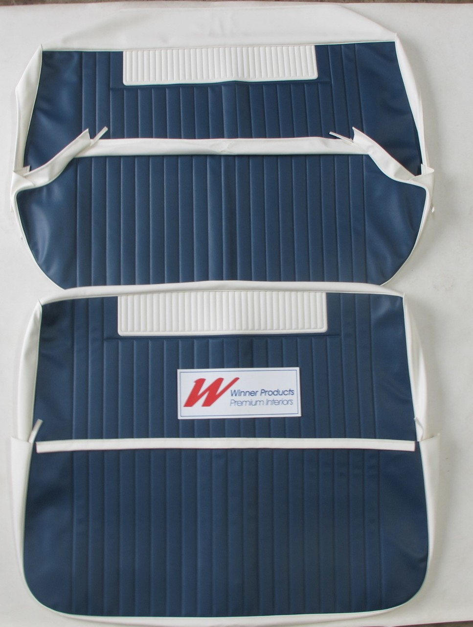HOLDEN EH SPECIAL SEDAN BENCH SEAT COVER SET BLUE AND WHITE