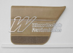 HOLDEN HZ PREMIER SEDAN DOOR TRIM SET BUCKSKIN (METAL TOP EXCHANGE)