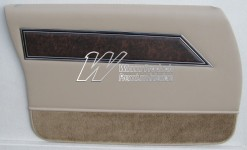 HOLDEN HQ STATESMAN DOOR TRIM SET DOESKIN TRIM CODE 38 (METAL TOP EXCHANGE)