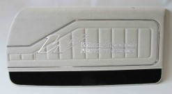 HOLDEN HQ MONARO COUPE DOOR TRIM SET FLAX (TRIM CODE 18X or 18Y) WITH BLACK CARPET (METAL TOP EXCHANGE)