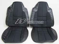 HOLDEN LX SLR TORANA SEAT COVER SET BLACK WITH CLOTH INSERT