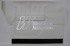 FORD XA GT SEDAN DOOR TRIM SET WHITE ( NO TOPS) TRIM CODE W