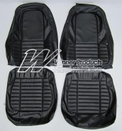VALIANT CHARGER VH SEAT COVER SET BLACK