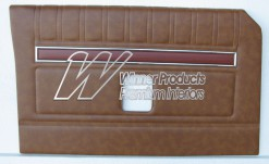 FORD XY GT DOOR TRIMS SET SEDAN SADDLE (EXCHANGE METAL TOPS) TRIM CODE