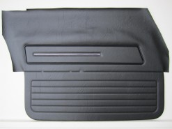 HOLDEN HJ SANDMAN FRONT DOOR TRIM SET BLACK LONG GRAIN ( NO TOPS)