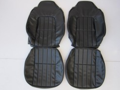 HOLDEN HJ SANDMAN FRONT SEAT COVER  SET BLACK LONG GRAIN